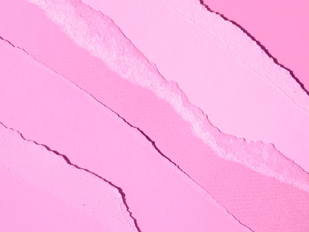 Gradient pink of ripped abstract paper lines