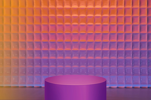 Gradient product backdrop, neon purple stand