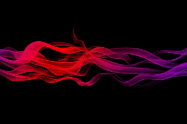 黒の抽象的な背景のグラデーションの煙