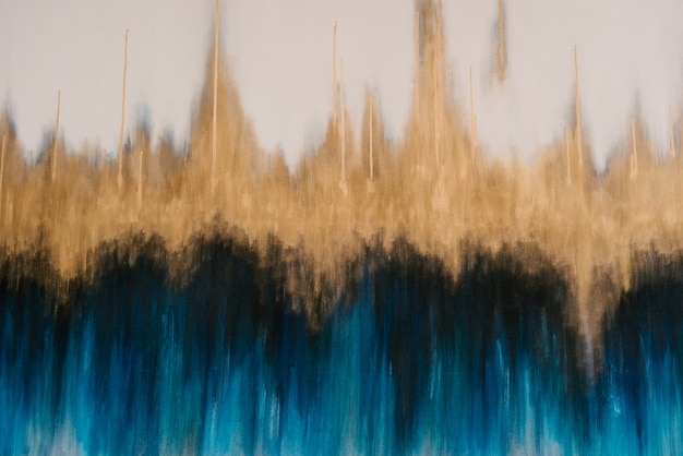 Gradient of white, gold, black and blue texture