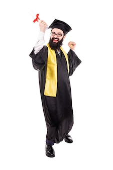 Graduate with a diploma in hand