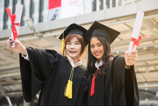 Graduate women students in commencement day