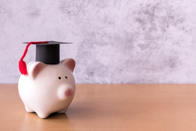 貯金箱の卒業帽子