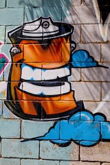Graffiti on street wall