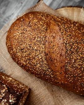 Grain bread on table