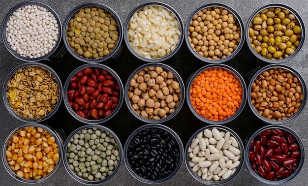 アルミ缶の穀物貯蔵