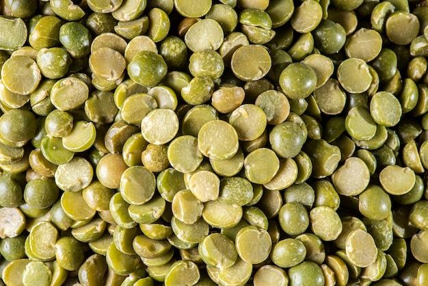 Grain texture. dried peas. close-up.