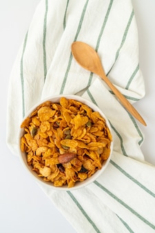Grains cornflakes (cashew nut, almond, pumpkin seeds and sunflower seed) - healthy multigrain food