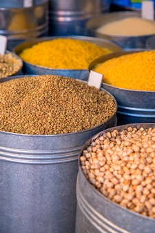 Grains on the market