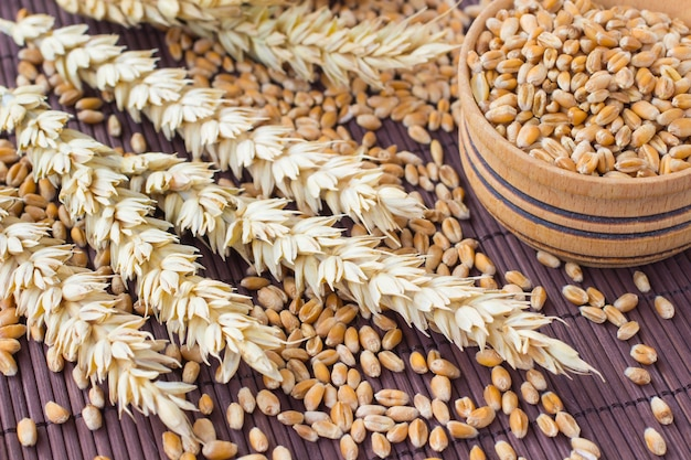 Grains, spikes of wheat