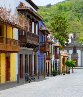 Gran canaria teror colorful facades
