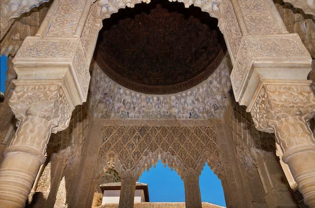 Granada, spain: famous alhambra interior, granada, spain.