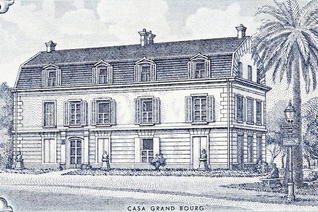 오래된 아르헨티나 돈으로 프랑스의 그랜드 부르 하우스