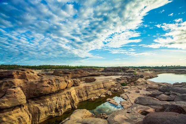 タイのグランドキャニオンサンパンボク天然石公園メコン川のグランドキャニオン