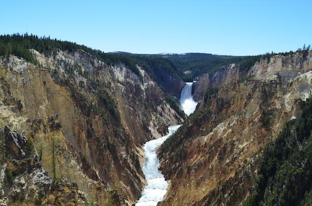 옐로 스톤 강이 조각 한 옐로 스톤 그랜드 캐년