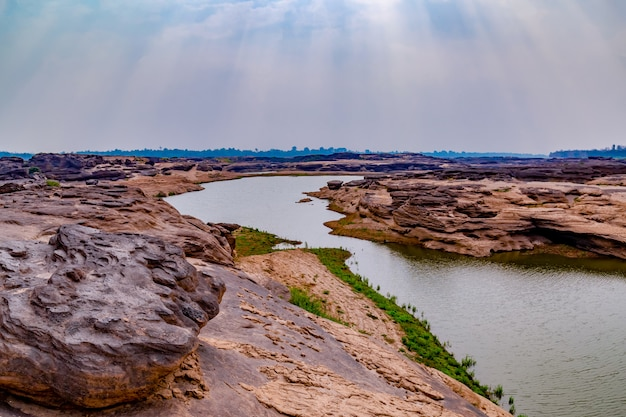 The grand canyon of thailand is adjacent to the border of laos
