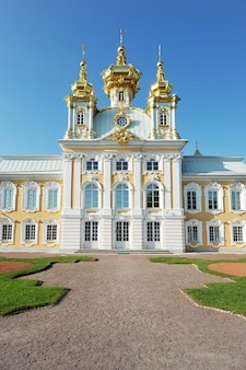 The grand palace in peterhof.