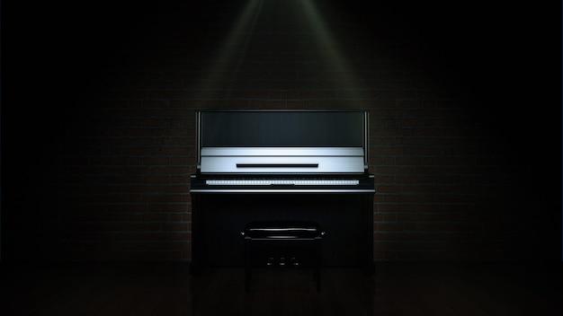 Рендеринг рояля 3d