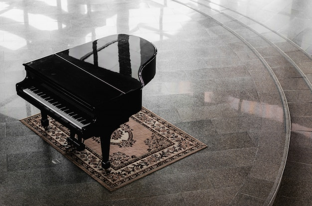 Grand-piano  in the hall