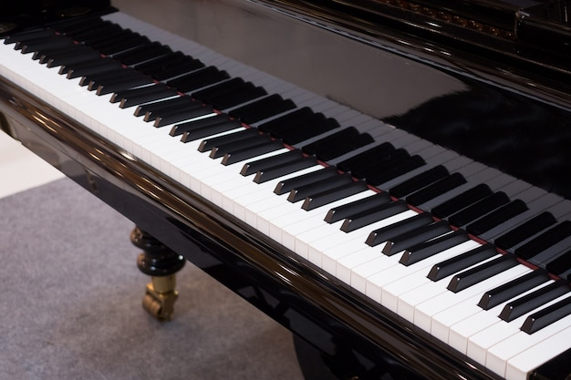 Grand piano keyboard background musical instrument