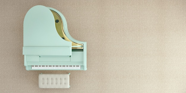Вид сверху рояля