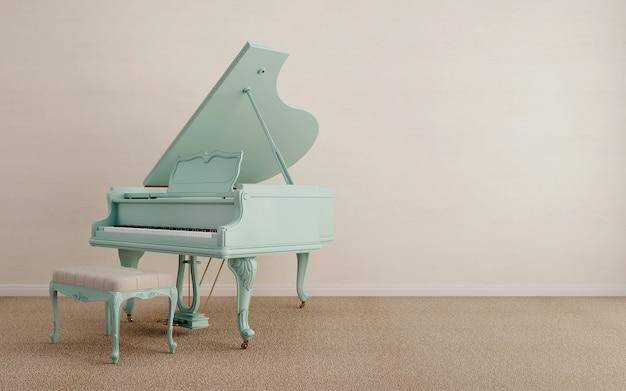 Рояль пастельных тонов.