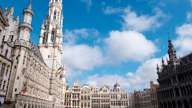 Grand place square and buildings in brussels, belgium