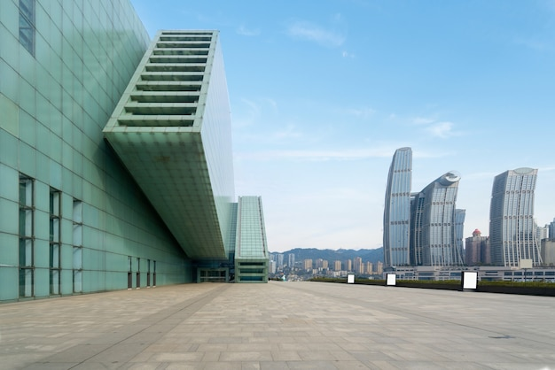 Grand theater square and urban scenery in chongqing, china