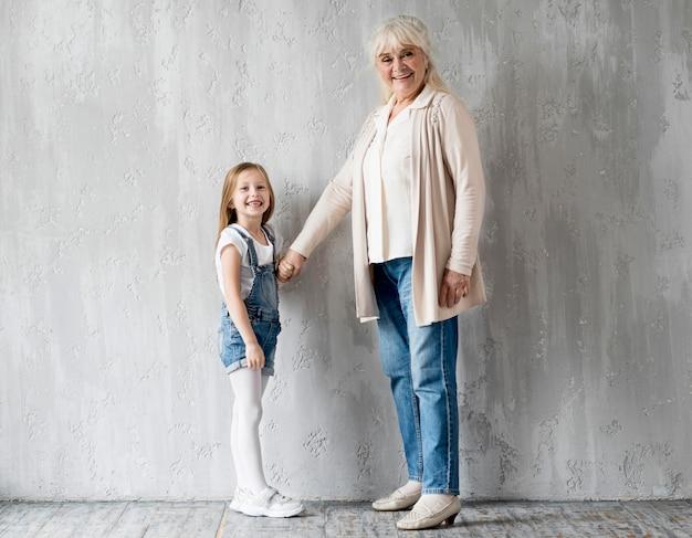 Grandma with little girl