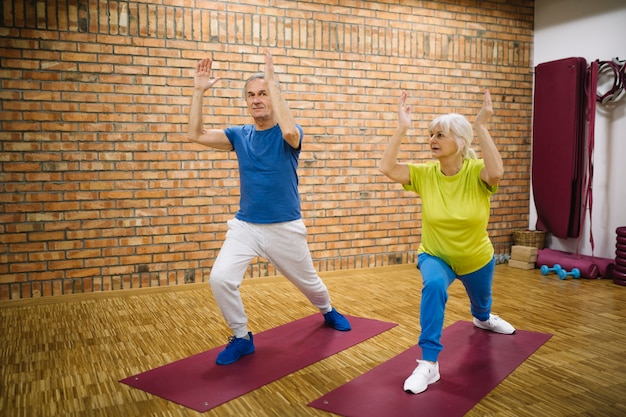 Grandparents in gym