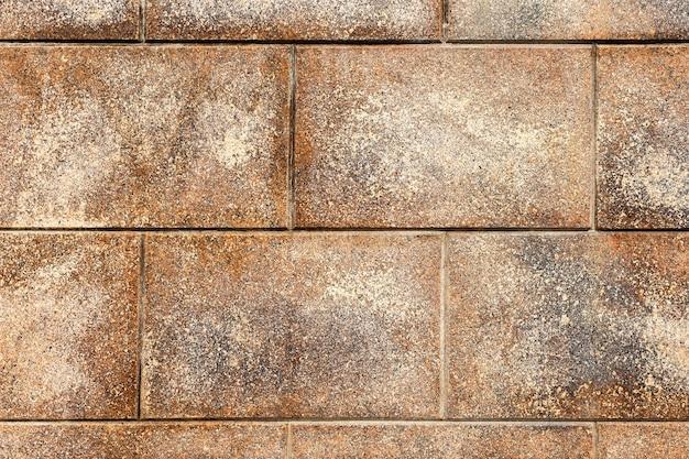 乾いた草と花崗岩のレンガの壁。高品質の写真