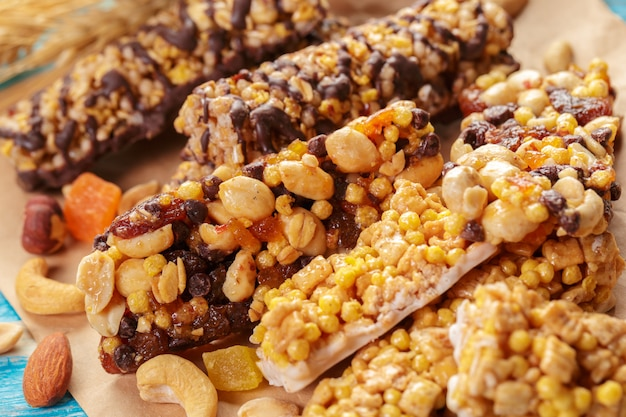 Granola bar close-up