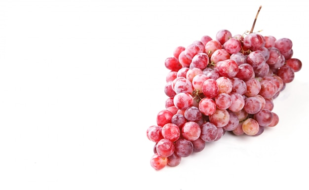 Grape cluster is a pink variety
