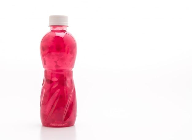 Grape juice with nata de coco or coconut jelly