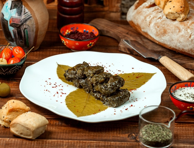 Grape leaf dolma with spices