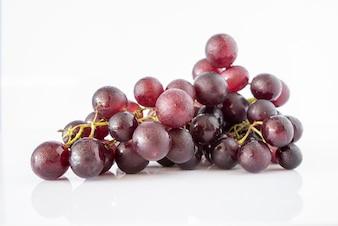 Grape on white background