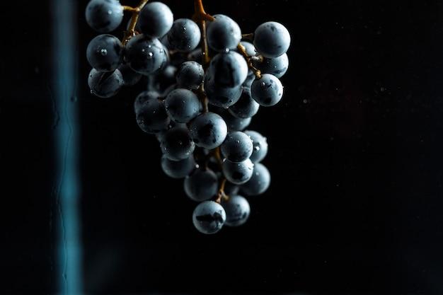 Виноград при этом погружается в воду со многими брызгами. концепция левитации