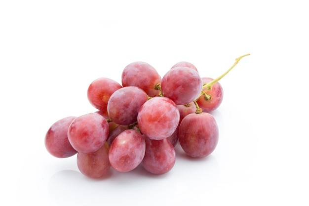 Grape on white isolated. fresh  berry.