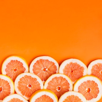 Grapefruit background with copyspace