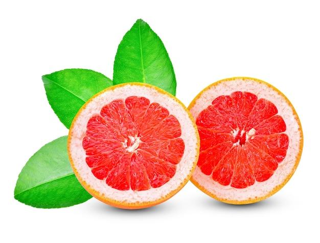 白い背景に分離されたグレープフルーツ