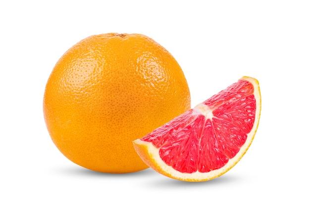 白で分離されたグレープフルーツ