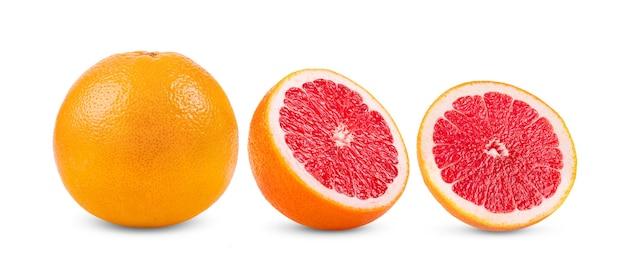 白い背景の上のグレープフルーツ