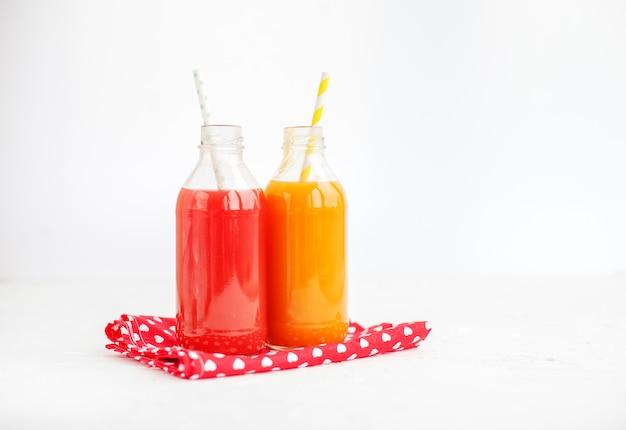 Grapefruit and peach juice