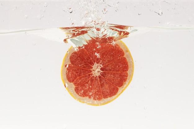 Grapefruit in the water