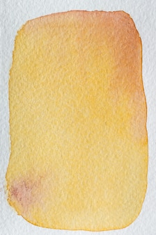 Grapefruit yellow, red, orange, marsala hand drawn abstract watercolor background frame. space for text, lettering, copy. postcard template.