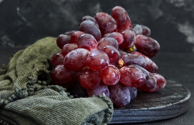 Grapes on dark