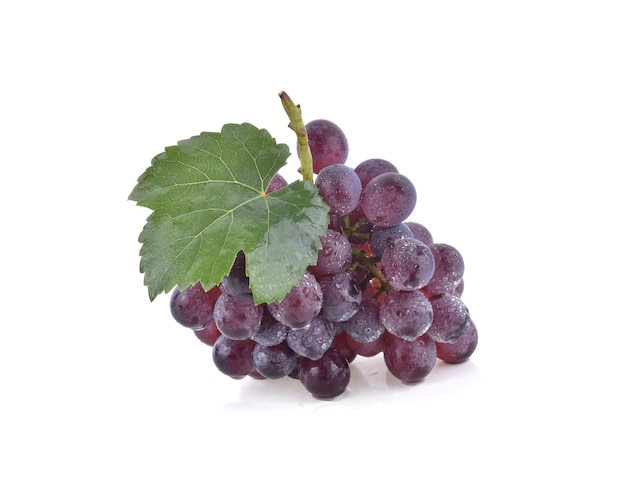 Grapes with drop of water isolated.