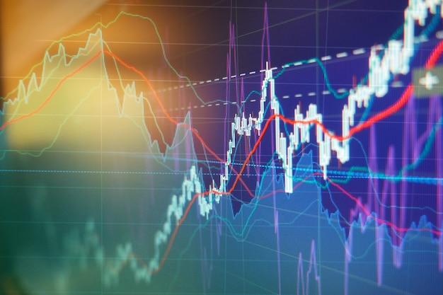 Графики инвестиционной торговли фондового рынка - бизнес-фон