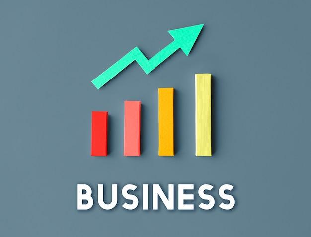 Grafico crescita sviluppo miglioramento profitto successo concept