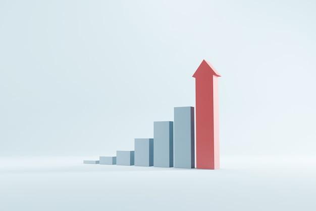 화살표가 올라가는 그래프 성장